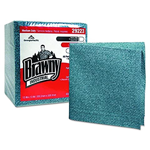 Georgia Pacific Professional 29223 Medium-Duty Airlaid 1/4 Fold Wipes, 13 x 13, Blue, Pack of 50 (Case of 8)