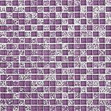 Glasmosaik Wand Fliesen Schwarz Lila Rot Pink Silber Weiß gebrochen klar Glas (MT0070 Matte)