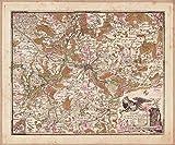 MAP ANTIQUE 1778 VON OESFELD BERLIN POTSDAM LARGE REPLICA