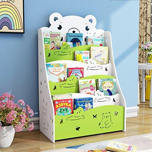 Bücherregal für Kinder Büchergestell im Kinderzimmer Kinderregal Kinderzimmerregal für Jungen und Mädchen Kinder Bücherregal Regal Bücher kinder/Klein Bücher Regal/Klein Standregal ( Color : Green ) (Jungen Bücherregal)