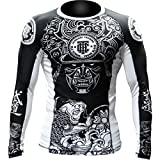Hardcore Training Rash Guard Koi - Men Long Sleeve - MMA UFC Grappling Cage Fight Fitness -XL Kompressionsshirt MMA BJJ UFC Kampfsport