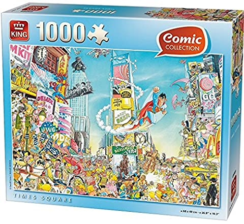 King KNG05089 Comic Collection Times Square Puzzle (1000-Piece)