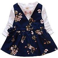 Hopscotch Girl's Cotton Empire Waist Midi Top and Dress Set ( XXC-1948343 , Navy Blue , 2-3 Years)