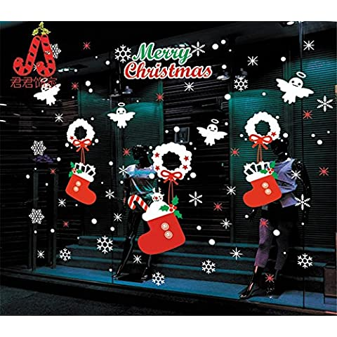 Wall stickers decorazione murale?Natale decalcomanie decorationsChristmas superficie di vetro , Natale 8360)