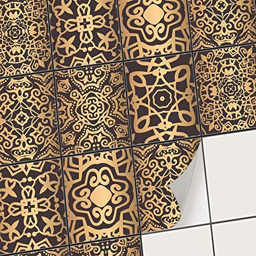 creatisto Fliesenaufkleber Fliesenfolie Mosaikfliesen - Hochwertige Sticker Aufkleber für Wandfliesen I Klebefliesen Deko Folien für Fliesen in Küche u. Bad/Badezimmer (20x25 cm I 6 -Teilig) (Badezimmer 6-teilig)