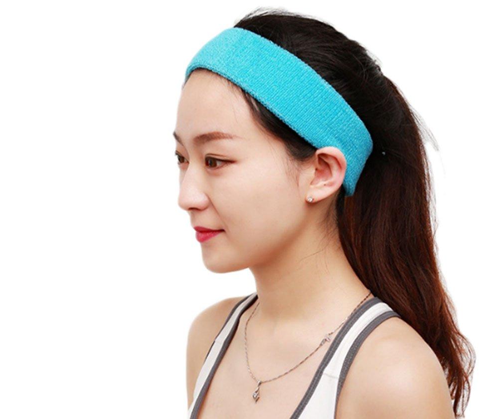 Demarkt Sport Headband Stirnband für Running Yoga Fitness 17*5.5CM Rose Rot