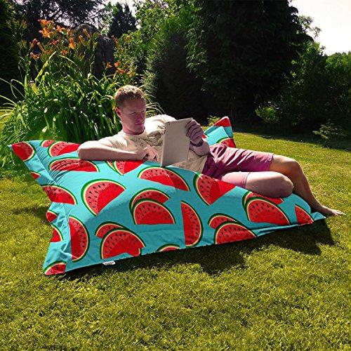 Wassermelone Indoor/Outdoor-Sommer Squashy Squarbie Außen Beanbags - Türkis
