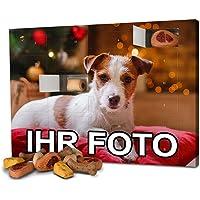 printplanet - Hunde-Adventskalender mit eigenem Foto personalisiert - mit Hunde Leckerlis gefüllt - Weihnachtskalender…