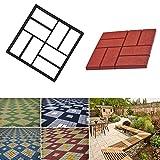 Woopower PATH Maker Form, 40x 40cm Kunststoff Garden Path Maker Form manuell Pflastersteine Zement Brick Stone Road DIY Walk Maker Formen, schwarz, 40*40*4cm/15.75