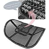 Kicode Nero Lombal Mesh Supporto di supporto posteriore Per sedile auto per sedie ufficio