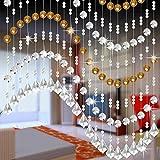 SOMESUN Vorhänge Kristall Glas Korn Vorhang Luxus Leben Zimmer Schlafzimmer Fenster Tür Hochzeitsdekor Türvorhang Kristall Girland Crystal Clear Acrylic (D)