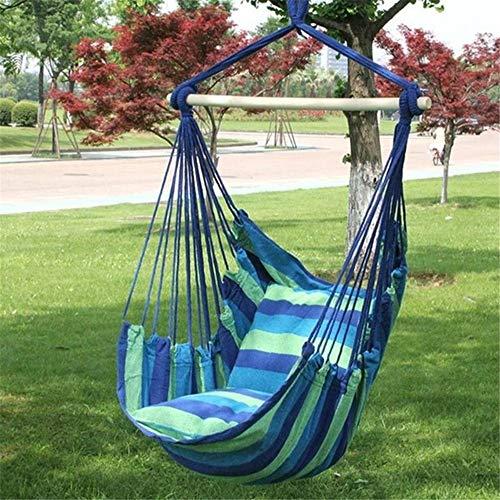Zhuo Qun Shang Mao Tragbarer Hängesessel Hängesessel Swinging Indoor Outdoor Möbel Hängematten Canvas Schlafsaal Swing mit 2 Kissen Hängematte -