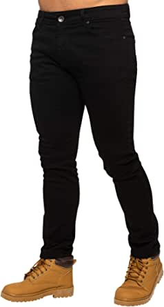 ENZO Mens Skinny Slim Fit Stretch Denim Retro Jeans Pants Trousers