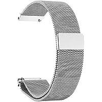 Bracelet de Montre Magnétique,Fermoir Bracelet Réglable en Acier Inoxydable Metal pour Huawei Watch Daniel Wellington…