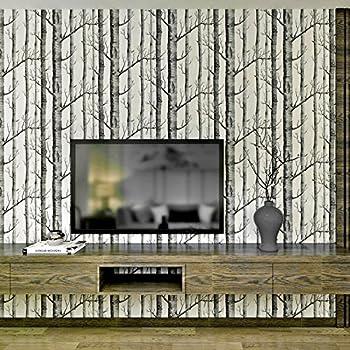 brewster fd31051 papier peint motif bouleaux naturel bricolage. Black Bedroom Furniture Sets. Home Design Ideas