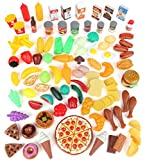 Pretend-Food-Toy-Play-Set-Huge-125-Piece-Ultimate-Kitchen-Set-Great-for-Imaginative-Play