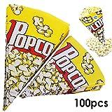 JJOnlineStore–Papiertüten für Popcorn Mischungen Süßigkeiten, für Party Kino, aus Papier, gelb, 100 Stück