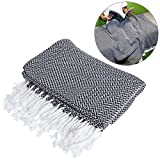 WINOMO Decke Sofadecke Weiche Baumwolle Große Handtuch umkehrbar für Couch Stuhl
