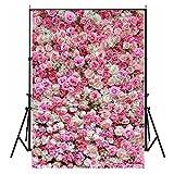 150cmX210cm Foto Hintergründe, WCIC Romantische Blume Wand Fotografie Studio Hintergrund für Hochzeit Valentinstag Xmas Baby New Born Geburtstag Party, Model C-226