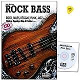 Rock Bass - Schule von Jäcki Reznicek - Grundlagen, Equipment, Übungen, Tonarten, Rhythmik ... - Lehrmaterial mit CD und Original Dunlop Plek