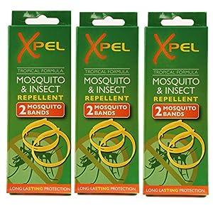 61opYGvA8EL. SS300  - 3 X 2 x Adult Xpel Tropical Formula Mosquito/Insect repellent bands (DEET FREE)