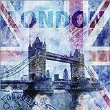 Alu Dibond 30 x 30 cm: London di Andrea Haase