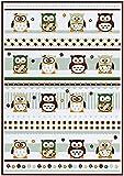 Geschirrtuch Eule OWL Eulen 2er-Pack weiss Größe 50x70 cm