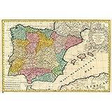 Grupo Erik Editores GPE4332 - Póster Mapa Antiguo España, 61 x 91,5 cm