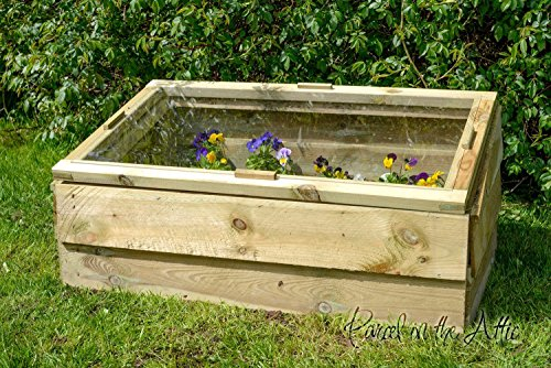 Wooden Cold Frame Mini Greenhouse Pressure Treated Timber Grow Allotment (Single)