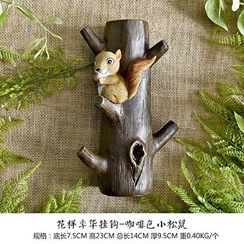 Baby Eichhörnchen Kostüme (American Creative Einfahrt Eingang Test Kleid Zimmer Haken Kleidung Mauern Kostüm Mütze Haken, Fancy liebe-Eichhörnchen)