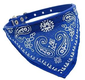 collier cuir bandana foulard paisley chien 29,5cm