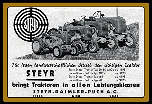 Schatzmix Steyr Traktoren Trekker schlepper blechschild