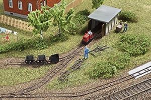 Auhagen 43700réplica de Set de Tren con Motor de vía Estrecha cobertizo Modelling Kit