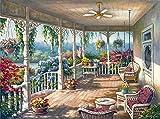 Wowdecor DIY Malen nach Zahlen Kits Geschenk für Erwachsene Kinder, Malen nach Zahlen Home Haus Dekor - Pavilion Schönen Blumen Hängesessel 40 x 50 cm ohne Rahmen