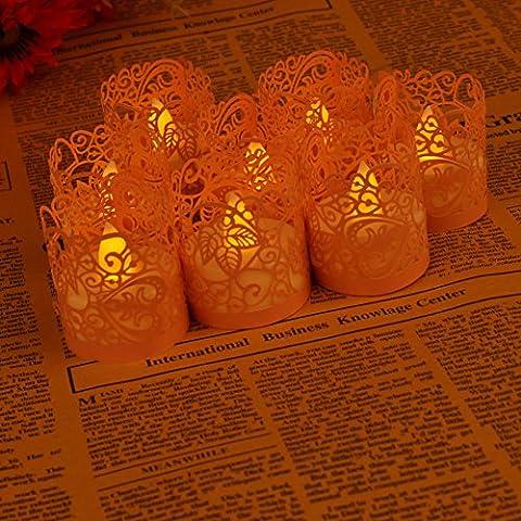 Asenart Flameless Tea Light Ensemble de bougies Votive Wrap (50 paquets) pour LED Batterie Tealight Candles (Non Inclus) (Rose)