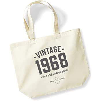 50th Birthday 1968 Keepsake Funny Gift Gifts For Women Novelty Ladies Female Looking Good Shopping Bag