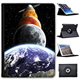 Fancy A Snuggle Planeten des Sonnensystems Mars Saturn Case Cover/Folio aus Kunstleder für Das Apple iPad AIR 2 (2nd Generation)