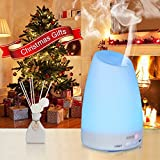 Aroma Diffuser, Amir® 100ml Colorful Ultrasonic Humidifier Aroma Diffuser / Aromatherapy Essential oil Diffuser Cool Mist Humidifier for Home, Yoga, Office, Spa, Bedroom, Baby Room Bild 2