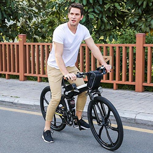 ULTREY Elektrofahrrad 26 Zoll E-Bike E-Faltrad Faltbares Mountainbike mit großer Kapazität (36V 250W), Doppel-Federung und 21-Gang Shimano
