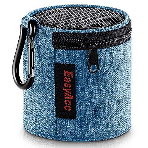 EasyAcc Tasche für Anker SoundCore Mini/August MS425/ EasyAcc Mini Bluetooth Lautsprecher, Premium Tragbare Speaker Hülle Schutztasche, Reise Tragen Case mit Karabiner, Blau...