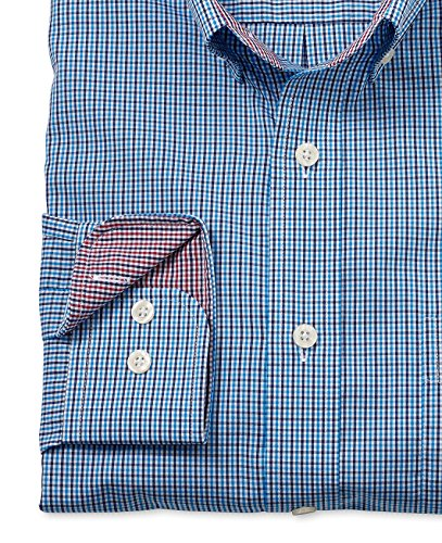 Savile Row Men's Blue Navy Check Classic Fit Casual Shirt Blue Navy