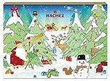 Hachez Adventskalender mit Edel Vollmilch Schokolade, 1er Pack (1 x 130 g)
