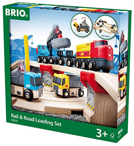Brio 33210 - Straßen und Schienen Steinverlade Set