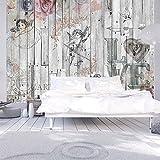 murando - Fototapete 350x245 cm - Vlies Tapete - Moderne Wanddeko - Design Tapete - Wandtapete - Wand Dekoration - Holz Vintage f-C-0010-a-a