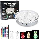 ALED LIGHT Shisha LED Untersetzer Base Lights Effekt Licht für Wasser 6 Zoll/15CM, RGB Licht, 16 Farben wählbar
