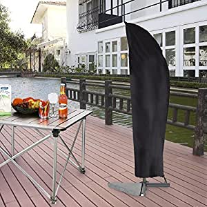 rainbowsun housse de protection pour parasol de jardin extra large tanche pour parasol avec. Black Bedroom Furniture Sets. Home Design Ideas