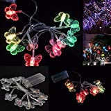 1M 10 LED Battery Butterfly Fairy Strip Lights Lamp Christmas Party Decoration