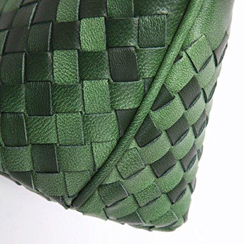 WU Zhi Dame Handmade Weaving Einfache Handtaschen Handtaschen Schulter Messenger Bag Handtasche Green