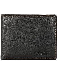 Hide & Sleek Men's Black Leather Wallet & Card Holder