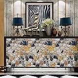 Rustikale Stein Tapete, hinmay 3d-Tapete Set walll als Dekoration für Wohnzimmer Schlafzimmer Wallsticker, 14, Free Size
